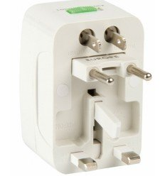 Adaptador enchufes blanco