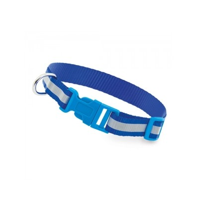 Collar Reflectante Animal Azul
