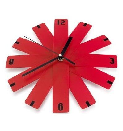Reloj de pared plegable rojo